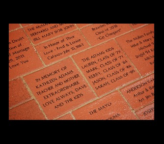 4 by 8 inch Engraved Brick