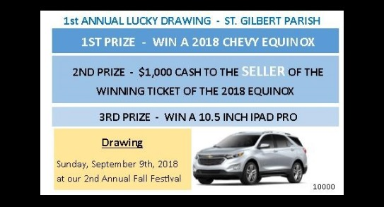 St. Gilbert 1st Annual Lucky Drawing