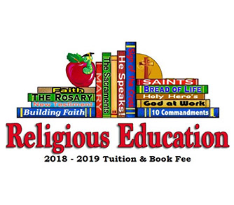 2018-2019 RE Tuition & Book Fee