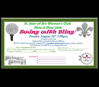 Swing with Bling! Women's Club Nine & Dine!