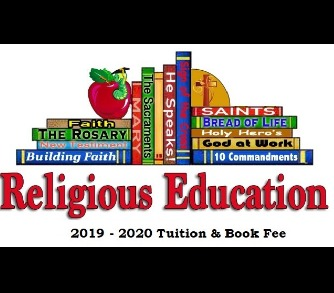2019-2020 RE Tuition & Book Fee