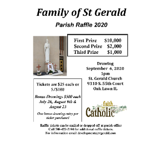 Family of St Gerald Annual Raffle
